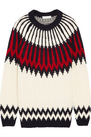 Snow Capsule intarsia wool sweater