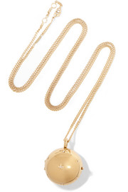 Chloé Gold-tone crystal necklace
