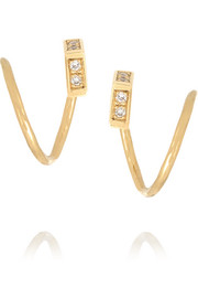 Twirl 18-karat gold diamond earrings
