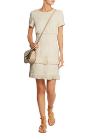 Maje Rabata tiered tweed mini dress