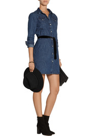 Alexa belted denim mini dress