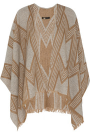 �clair intarsia wool-blend wrap
