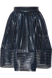 James coated mesh skirt