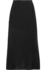 Maje Jeunesse honeycomb-mesh and jersey maxi skirt