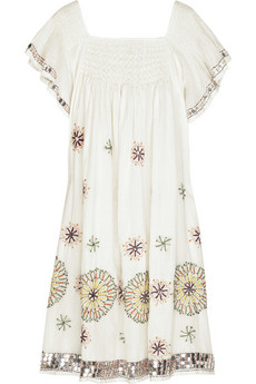 Antik Batik | Lidy embroidered cotton trapeze dress | NET-A-PORTER.COM from net-a-porter.com