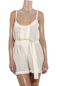 Chloé Belted cotton playsuit