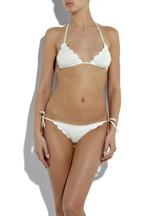 ChloéScalloped triangle bikini
