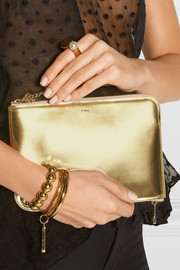 Chloé Drew metallic leather pouch