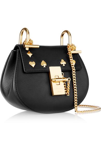 chole handbags - Chlo�� | Drew nano studded leather shoulder bag | NET-A-PORTER.COM