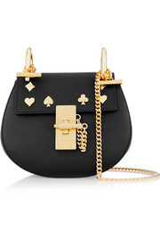 Drew nano studded leather shoulder bag