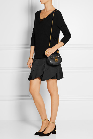 Chlo�� | Drew nano studded leather shoulder bag | NET-A-PORTER.COM