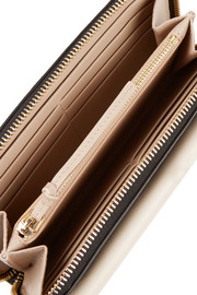 Chloé Drew two-tone leather continental wallet