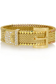 Belt 18-karat gold, sapphire and diamond bracelet