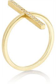 Reversible 18-karat gold diamond ring