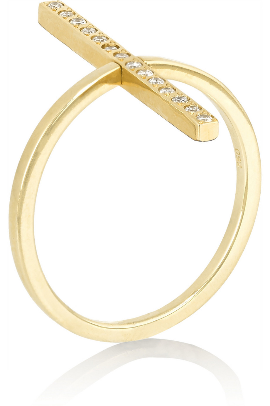 Ileana Makri Reversible 18-Karat Gold Diamond Ring, Women's, Size: 56