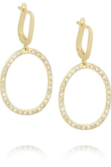 Mini-encore 18 Carats Boucles D'oreilles En Diamant D'or - Taille Ileana Makri sMclBR