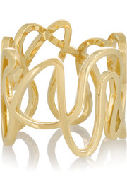 White Noise 18-karat gold ring