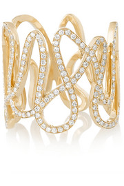 White Noise 18-karat gold diamond ring