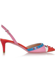 Fendi Bag Bug embellished leather pumps