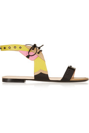 Fendi Color-block leather sandals