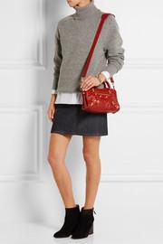 City mini textured-leather shoulder bag