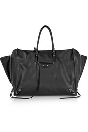 Papier A4 Zip Around textured-leather tote