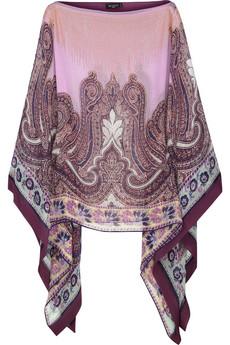 Etro|Sequin-embellished silk-chiffon poncho|NET-A-PORTER.COM from net-a-porter.com
