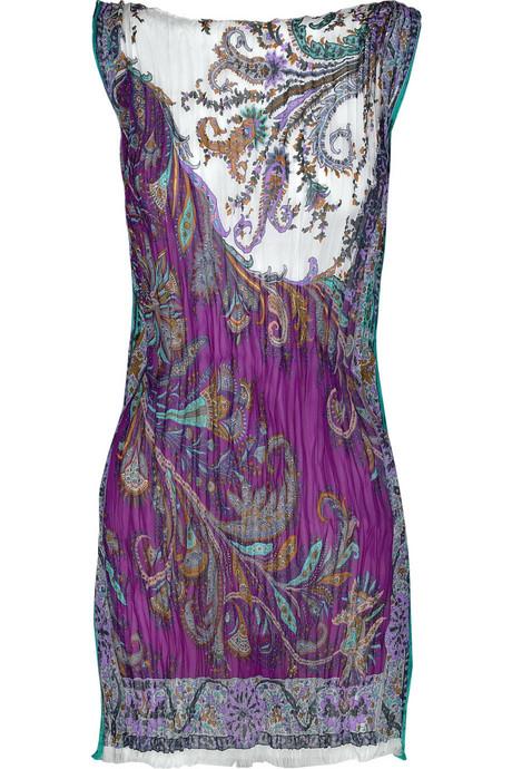 Etro|Plissé silk-crepe tunic|NET-A-PORTER.COM from net-a-porter.com