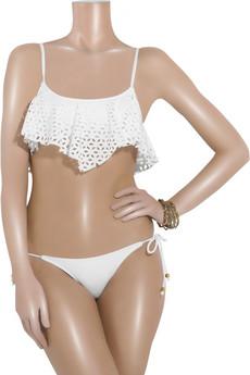 Shay ToddEyelet handkerchief bikini