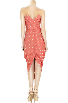 Vivienne%20Westwood%20Red%20Label Strapless%20polka-dot%20dress