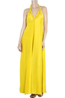 La PerlaRiddhi silk-blend maxi dress