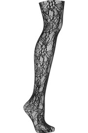 Clair floral-lace tights