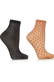 Set of two Daria polka-dot 20 denier socks