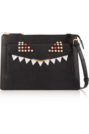 Fendi 2Jours embellished textured-leather shoulder bag
