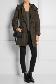 Balmoral Packaway hooded shell trench coat