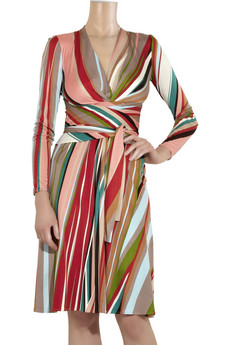 Issa Printed silk-jersey V-neck dress