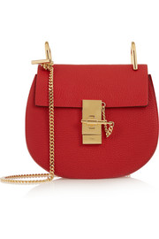 Chloé Drew mini textured-leather shoulder bag