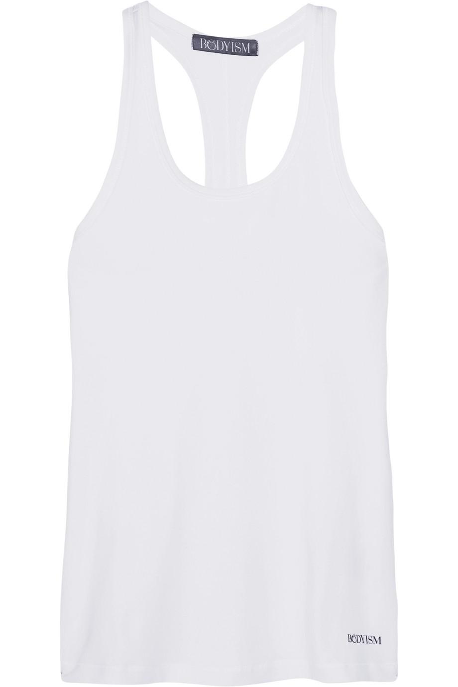 Bodyism Daniella Racer-Back Stretch-Jersey Tank, White, Women's