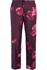 F.R.S For Restless Sleepers Floral-print silk-twill pants