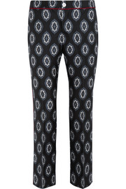 F.R.S For Restless Sleepers Ceo printed silk-twill wide-leg pants