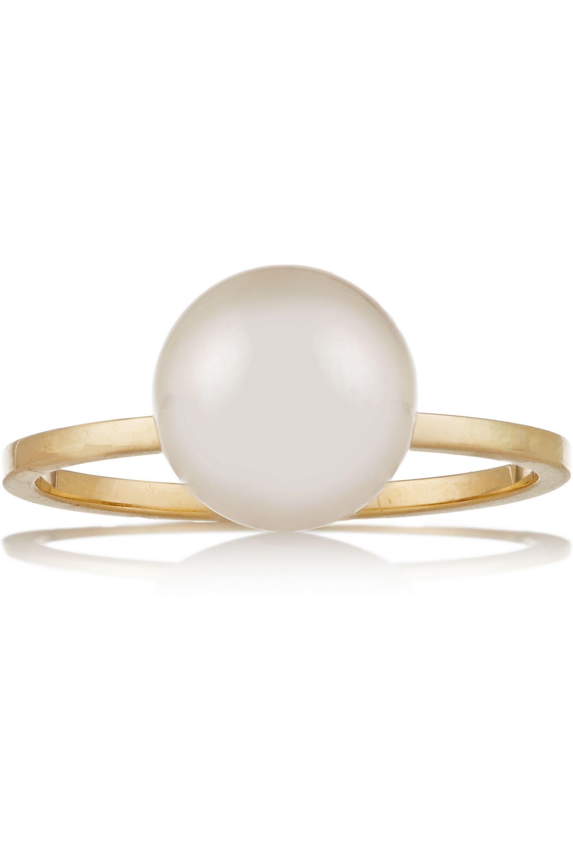 Sophie Bille Brahe Lisa Grande 14-karat gold pearl ring