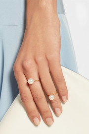 Lisa Grande 14-karat gold pearl ring