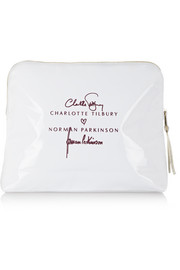+ Norman Parkinson Jerry Hall printed coated cotton-twill wash bag