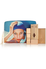 + Norman Parkinson Jerry Hall printed cotton-twill cosmetics case