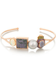 Sugar 18-karat rose gold multi-stone bracelet