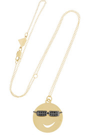 Joe Cool 14-karat gold diamond necklace