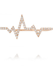 Heartbeat 18-karat rose gold diamond ear cuff