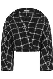 Checked wool-blend bouclé jacket