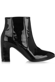 Patent-leather Chelsea boots