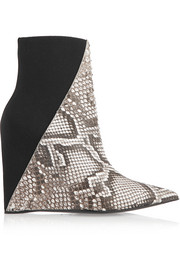 Python and elastic wedge boots